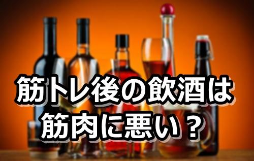 筋トレ後の飲酒は筋肉の成長に悪影響?【アルコール】