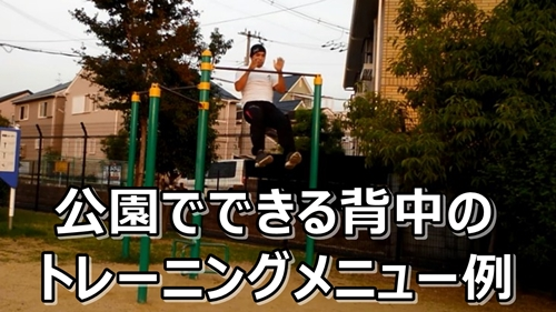 公園 背中トレーニング