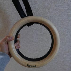 吊り輪 木製 プラスティック